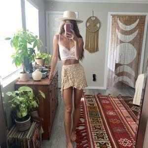 Flirty Floral wrap skirt
